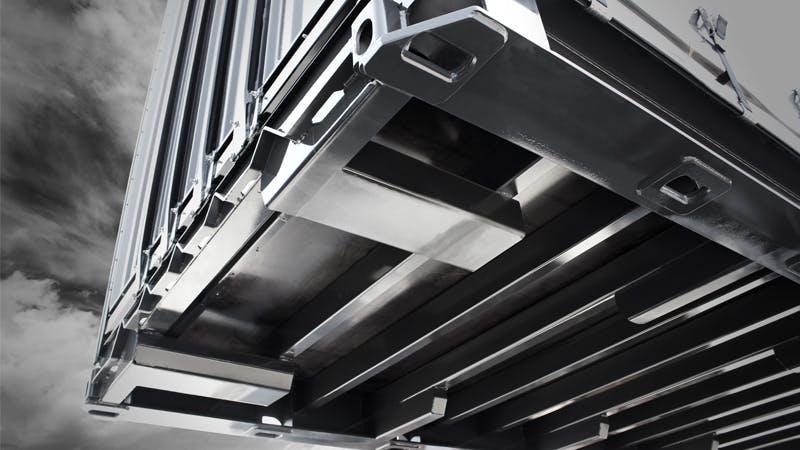 ISO-Gooseneck tünelli 45 ft. ve 40 ft. bağlantı noktalı, ön köşe bağlantısı ISO ve kanat kilit bağlantısına uyumlu yapı.