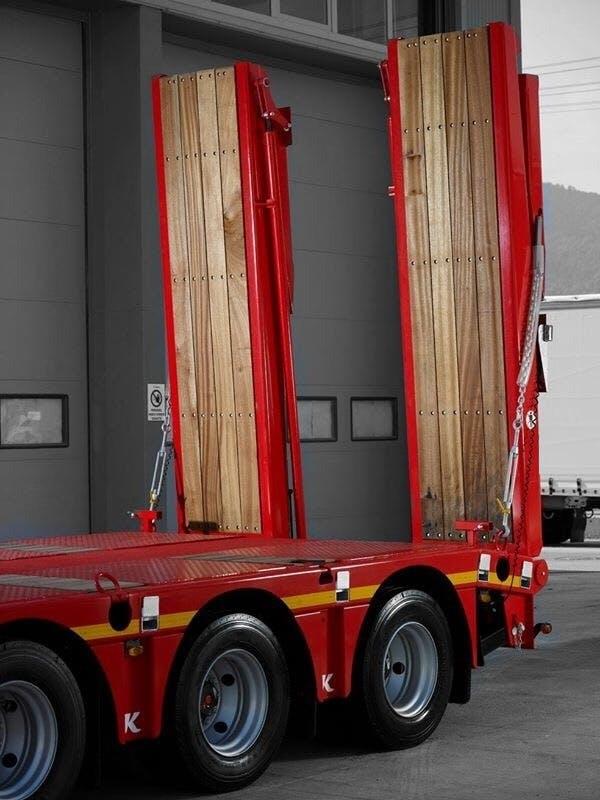 60 Ton kapasiteli, hidrolik indirilebilir, tahta tabanlı, uzun veya kısa rampa seçenekleri